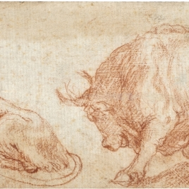 A Lioness and a Bull / Draped Figure