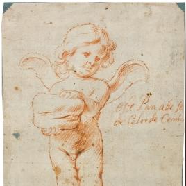 Ángel eucarístico sosteniendo una hogaza de pan