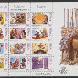 Serie de sellos Correspondencia epistolar escolar