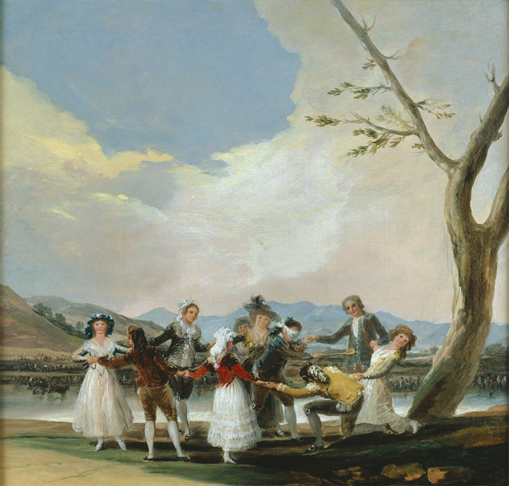 Francisco de Goya,La gallina ciega, boceto, 1788, Legado Fernández Durán, Madrid, Museo del Prado