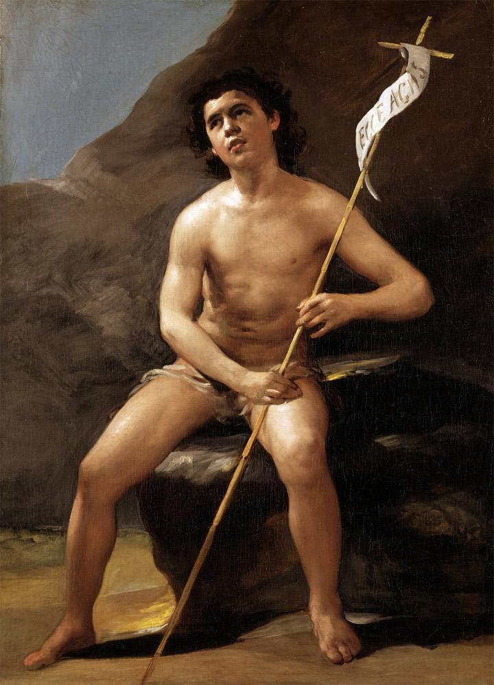 Francisco de Goya,San Juan Bautista niño, en el desierto, hacia 1810-12, Madrid, Museo del Prado