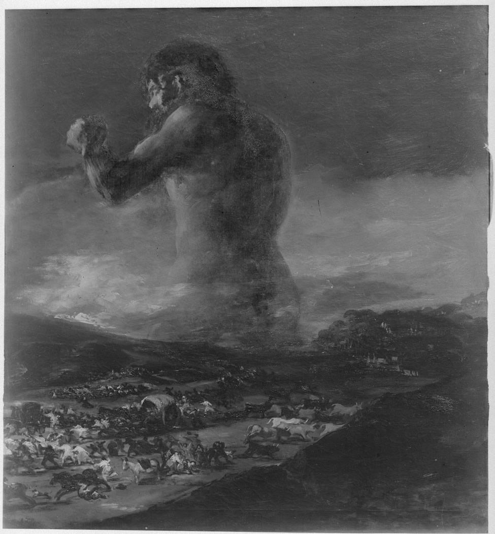 <p><em>El Coloso.</em>&nbsp;Fotograf&iacute;a realizada por el servicio fotogr&aacute;fico del Museo Nacional del Prado. Hacia 1940. Archivo del Museo Nacional del Prado</p>