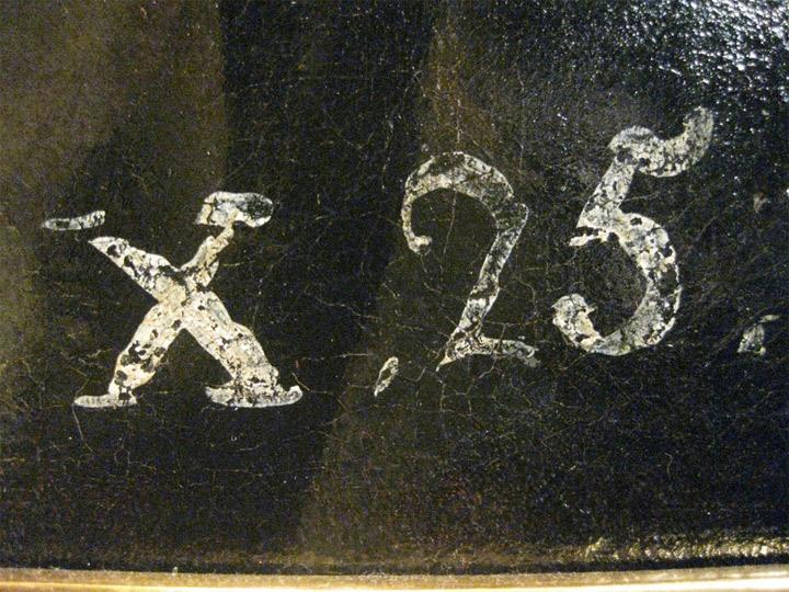 """Francisco de Goya,Lazarillo de Tormes, hacia 1810-1812, (detalle """"X.25"""", correspondiente al Inventario de 1812 en su versión de 1814, de los bienes de Goya), Madrid, colección particular"""
