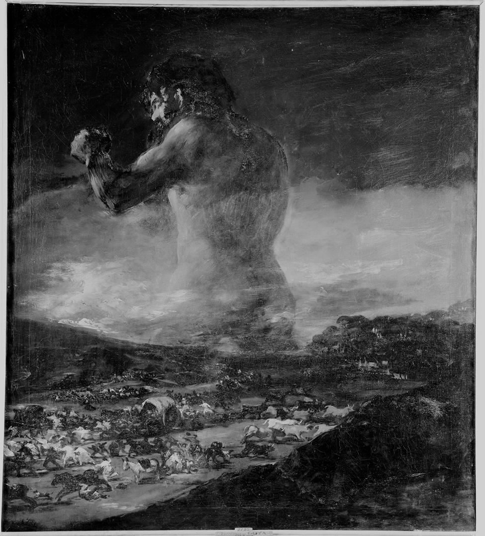 El Coloso. Fotografía realizada por el servicio fotográfico del Museo Nacional del Prado. Década de 1960. Archivo del Museo Nacional del Prado