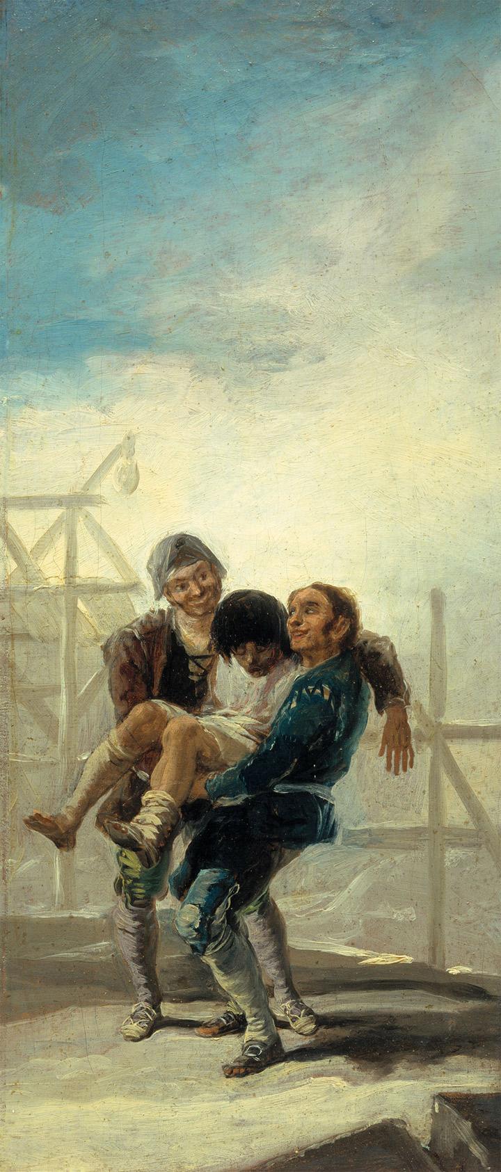 Francisco de Goya,El albañil borracho,boceto, 1786-87, Legado Fernández Durán, Madrid, Museo del Prado