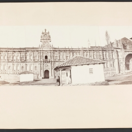Vista panorámica en cuatro tomas del convento de San Marcos en León