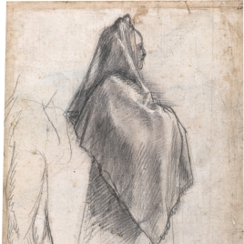 Study for a draped female figure / Studies of figures