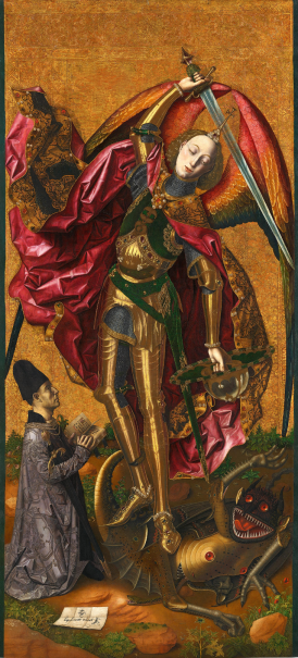 Saint Michael Triumphant over the Devil with the Donor Antoni Joan