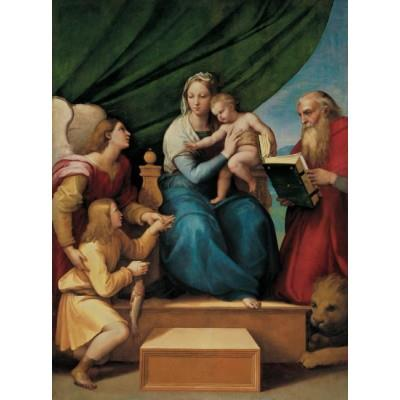 """The Holy Family with St Raphael, Tobias and St Jerome, or The Virgin of the Fish"""