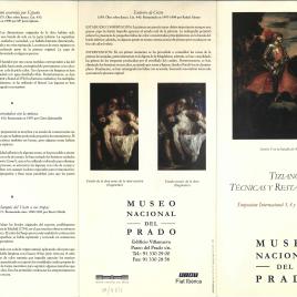 Tiziano : técnicas y restauraciones / Museo Nacional del Prado.