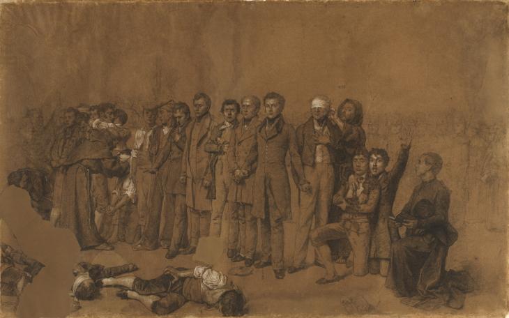 Fusilamiento de Torrijos y sus compañeros en las playas de Málaga, boceto