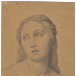 Estudio para la cabeza de un ángel músico (Mater Salvatoris. Capilla de las Letanías de la Iglesia de Notre Dame de Lorette, París).