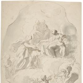 Venus entrega su ceñidor a Juno