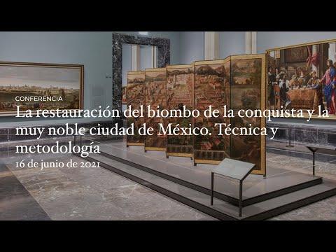 La restauración del biombo de la conquista y la muy noble ciudad de México