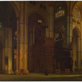 Vista del crucero de la catedral de Toledo