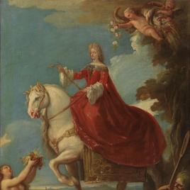 Mariana de Neoburgo a caballo