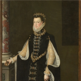 Isabel de Valois holding a Portrait of Philip II