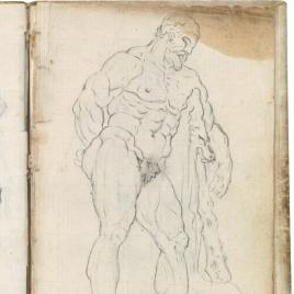 Hércules Farnese (vista lateral derecha)