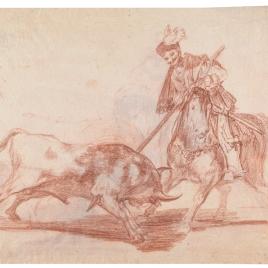 El Cid Campeador lancendo otro toro (anverso) / El Cid Campeador lanceando otro toro (reverso)