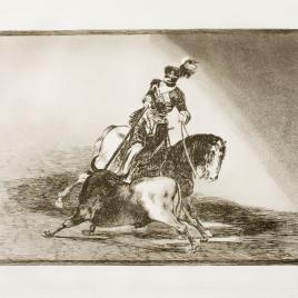 Carlos V lancenado un toro en la plaza de Valladolid