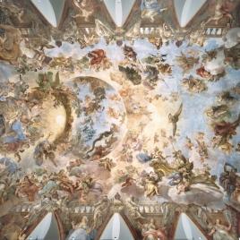 Bóveda con la  Apoteosis de la Monarquía Española