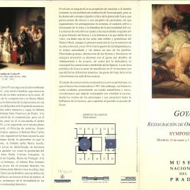 Goya : restauración de obras maestras : symposium / Museo Nacional del Prado.