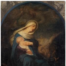 La Virgen con el Niño, según una piadosa creencia