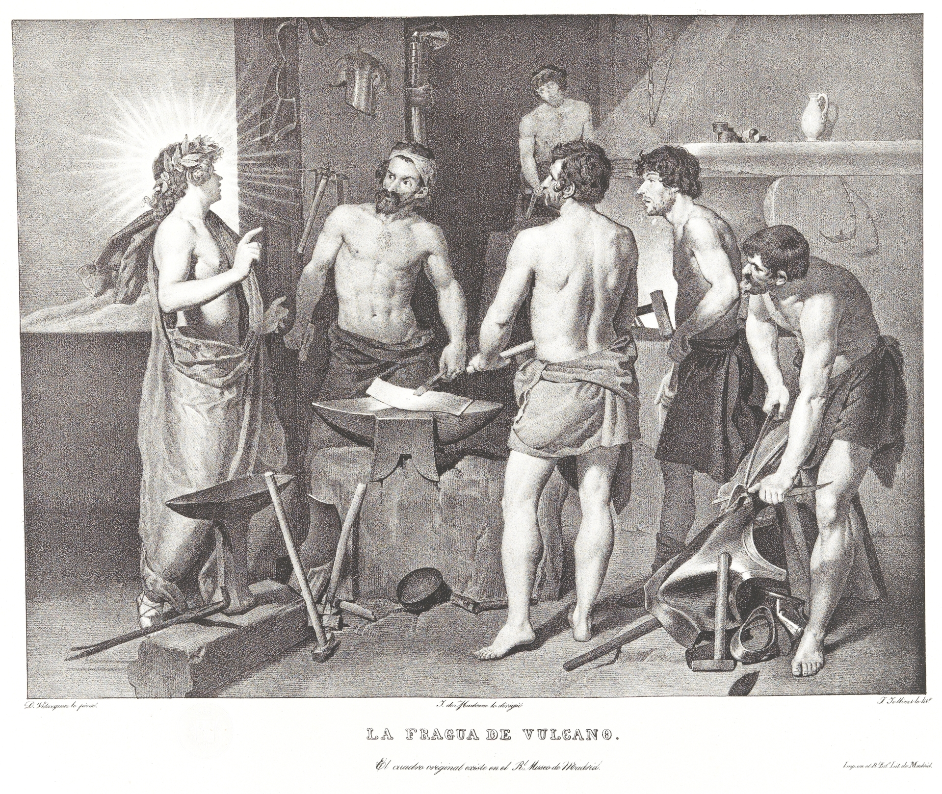 La fragua de Vulcano - Colección - Museo Nacional del Prado