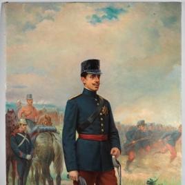 Alfonso XIII, con uniforme de campaña