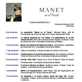 Manet [Recurso electrónico] : en el Prado : curso monográfico II / Museo Nacional del Prado.