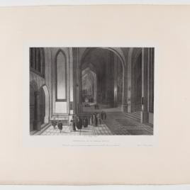 Interior de una iglesia: la ofrenda