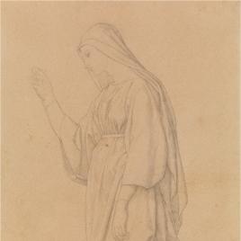 Estudio para Santa Catalina (Regina Virginum. Serie Capilla de las Letanías de la Iglesia de Notre Dame de Lorette, París)