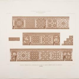 Zócalos pintados del interior de la Torre de Santo Domingo en Segovia