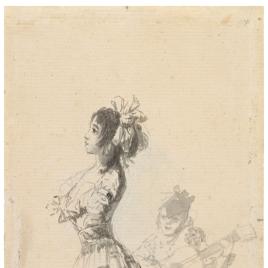 Girl dancing to a guitar