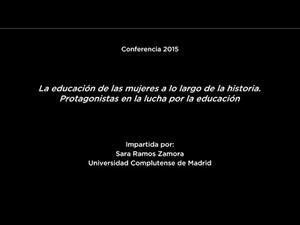 Conferencia: La educación de las mujeres a lo largo de la historia