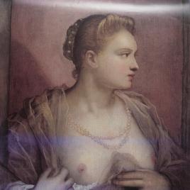 La dama que descubre el seno [Material gráfico] / fotografía: Oronoz.