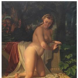La casta Susana en el baño