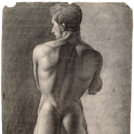 Desnudo masculino de espaldas