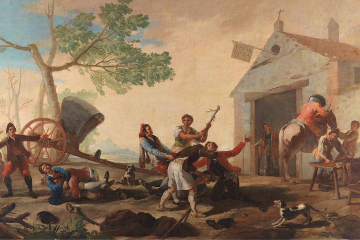 La riña en la Venta Nueva, de Goya
