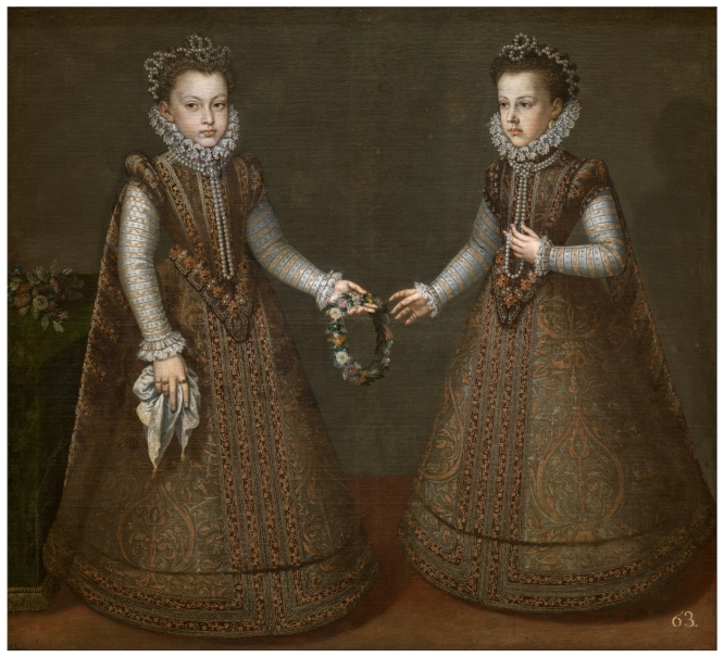 The Infantas Isabel Clara Eugenia and Catalina Micaela