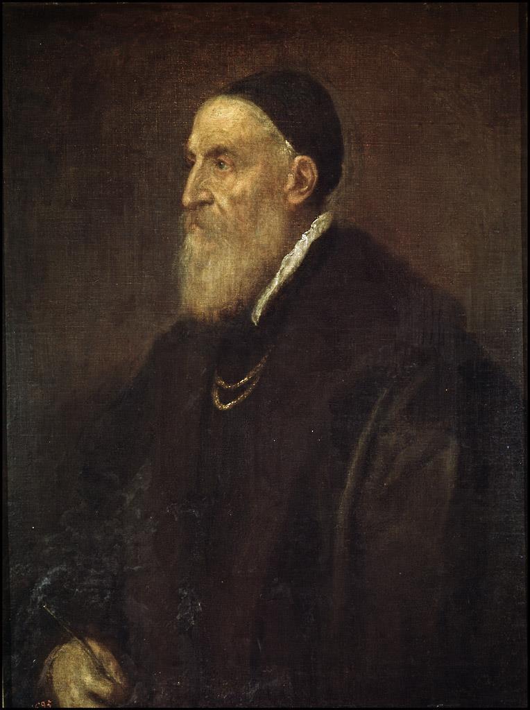 Resultado de imagen de Tiziano autorretrato de perfil