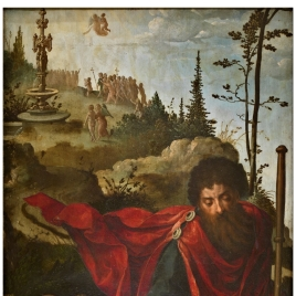 Saint James the Greater with Donors in Prayer / Saint Sebastian