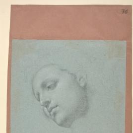 Cabeza para la figura de la Virgen