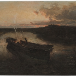 El anochecer en el lago Trasimeno