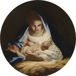 The Virgin laying the sleeping Christ on Straw