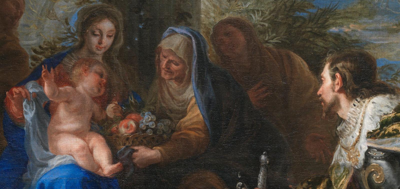 <em>La Virgen y el Niño adorados por san Luis, rey de Francia</em>, de Claudio Coello