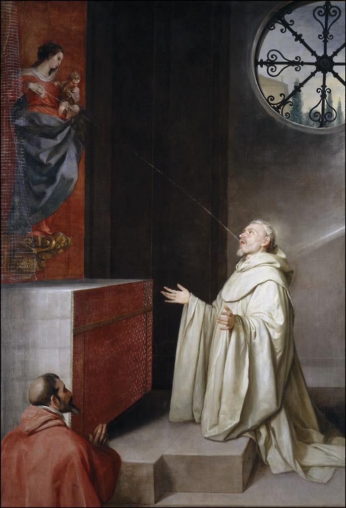 San Bernardo y la Virgen [Alonso Cano]