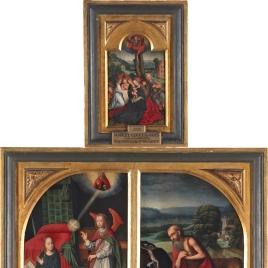 Flagelación. Descendimiento. Anunciación. San Jerónimo. Descanso en la Huida a Egipto