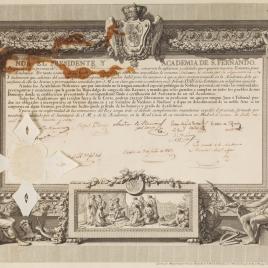 Patente de la Real Academia de San Fernando