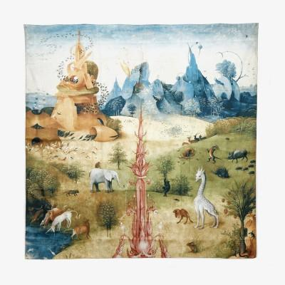 """The Garden of Earthly Delights""  Silk Scarf"